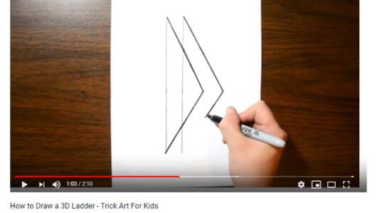 【必見オモシロ動画】子どもと一緒にチャレンジできる♪ 誰でも簡単に作れる立体はしごアート