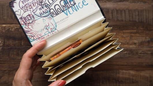 【菅未里の自腹買い文房具】海外出張にも便利!モレスキン「ポートフォリオ」がノートにしか見えない財布に!?