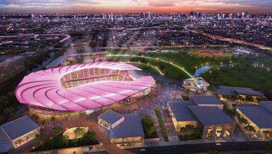 ベッカム氏保有・米サッカークラブの新スタジアム案が強烈! かなりピンクに