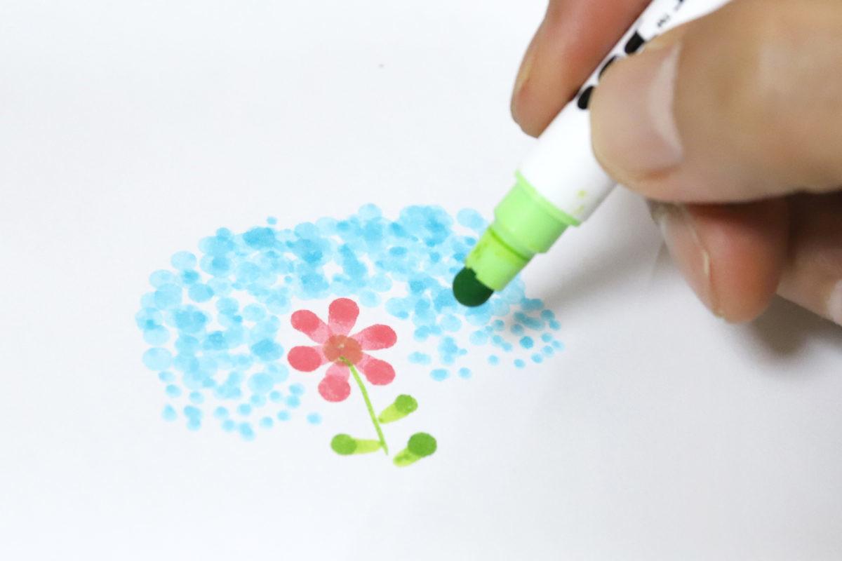 ↑花びらや葉っぱもこのとおり、簡単! 子どもでも数分やればコツが掴めるだろう