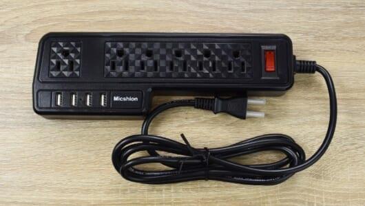 キツキツだった電源タップが超スッキリ! アダプタ同士がぶつからない「USB POWER STRIP」レビュー