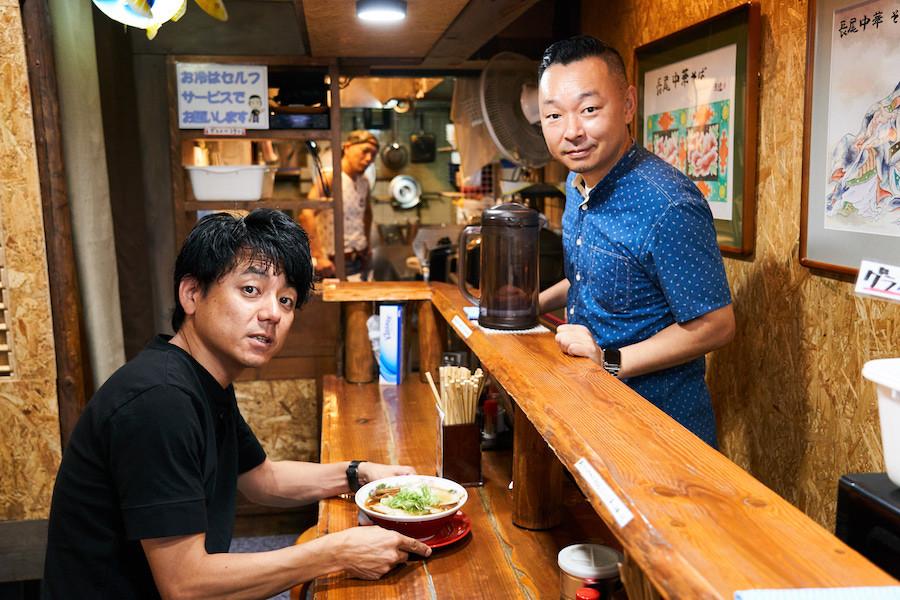 ↑田中さんとは、本稿で触れた凪グループの生田代表などと一緒に中国へ麺の研究旅行に行った間柄だ