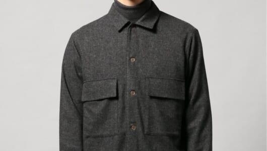 「今年はコート買わなくてもいいかな」と考えているあなたに。〈EDIFICE〉のシャツジャケットが使えます