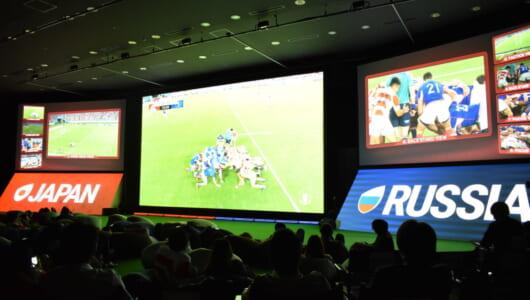 【ゼロから知れる5G】第4回/5G時代のスポーツ観戦を知る! ラグビーW杯ライブビューイングで未経験の感動を得た