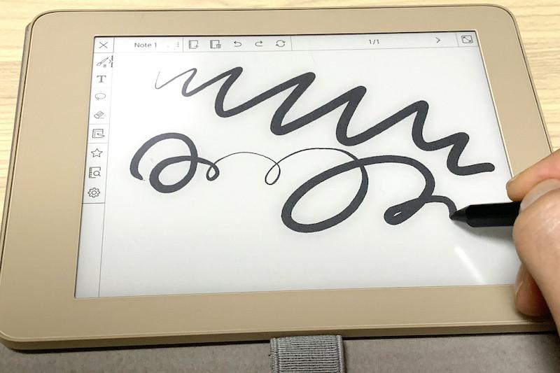 ↑さすがワコムのデジタイザだけあって、筆圧検知はスムーズで使いやすい