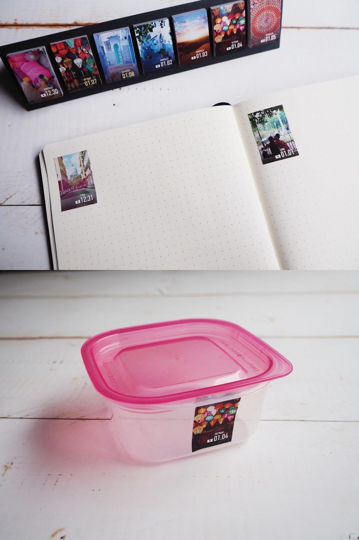 ↑ノートに貼ってダイアリーを自作したり、作り置きした食材を入れたタッパーに貼り付けて賞味期限を見える化したり活用できる