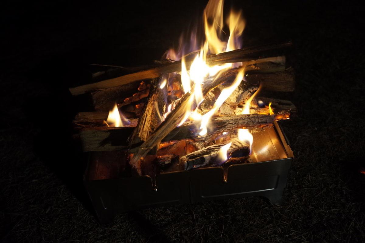 ↑火がつけばしっかり火が回った