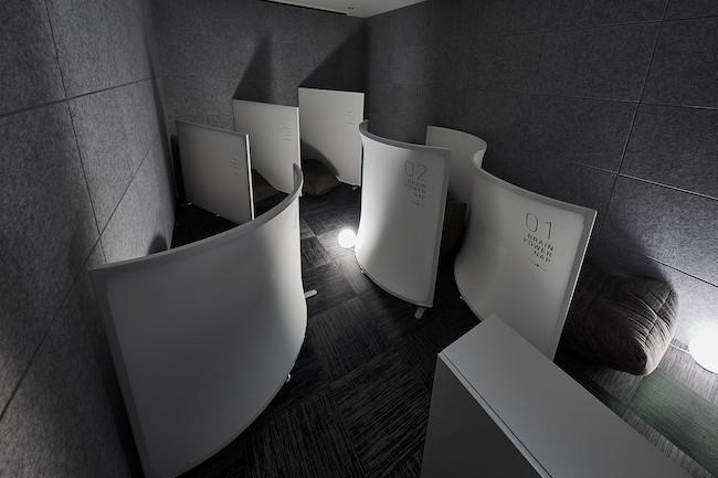 ↑この仮眠室は、ダイワハウスグループのデザインアークと一緒に作ったという