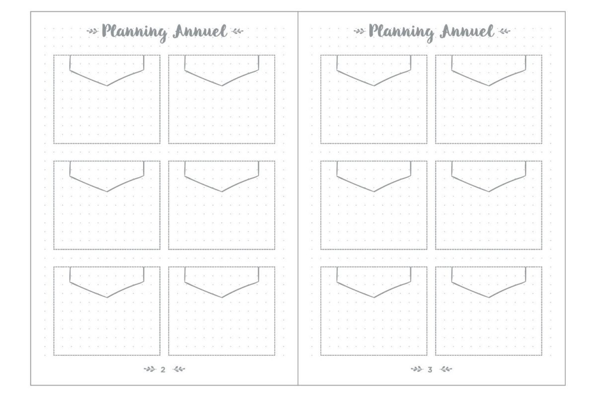 ↑年間を見通したスケジュールを立てるための「イヤープランフレーム」のページ