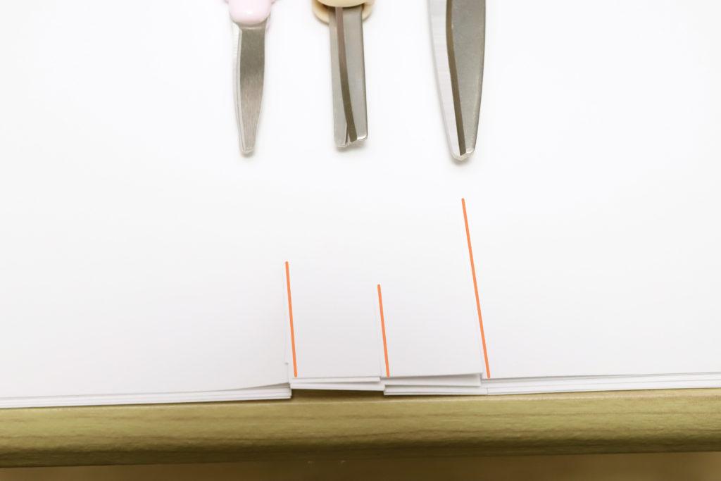 ↑差が出たのは8枚重ね切り。サクサポシェは薄い刃が歪む感じがして、切れ味が落ちた