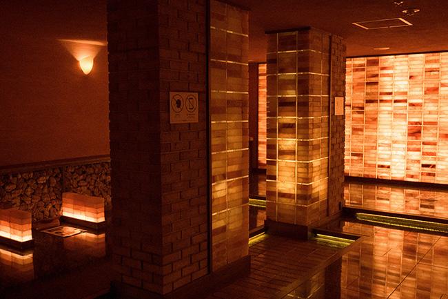 ↑約40度の低温サウナ室「橙幻宮」