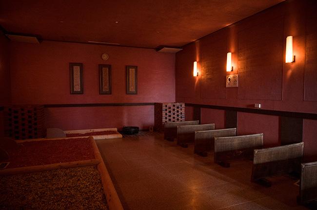 ↑約50度の女性専用低温サウナ室「紅倩洞」