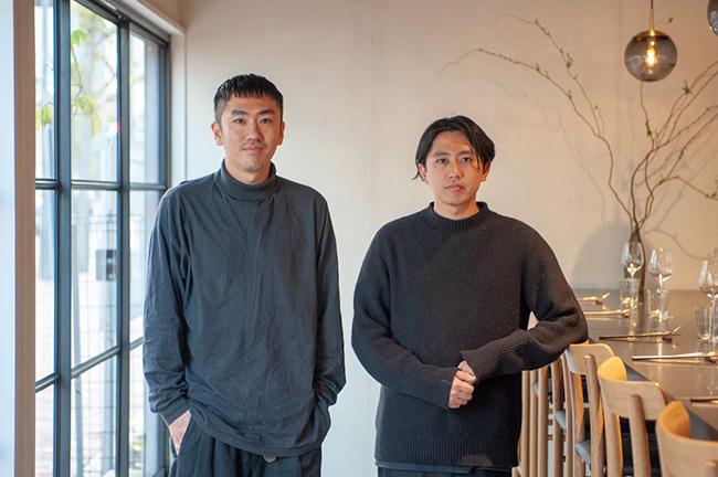 ↑江本さんとともにKabiをオープンさせた、オーナーシェフの安田翔平さん(左)